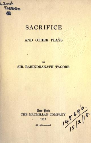 Sacrifice and other plays.