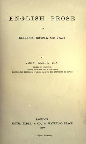 Download English prose