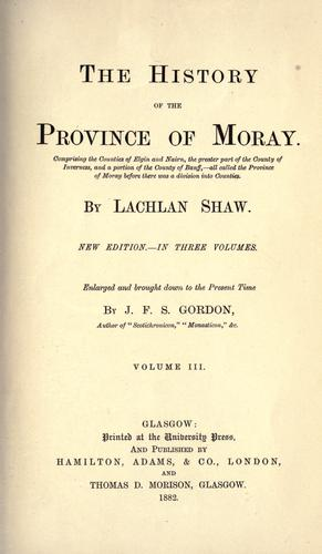 Download The history of the Province of Moray