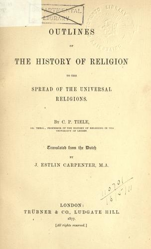Download Outlines of the history of religion