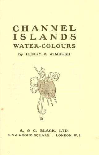 Channel Islands water-colours
