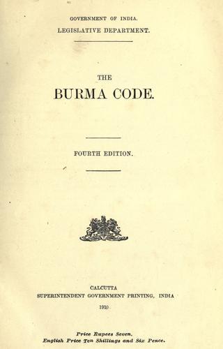 The Burma code.