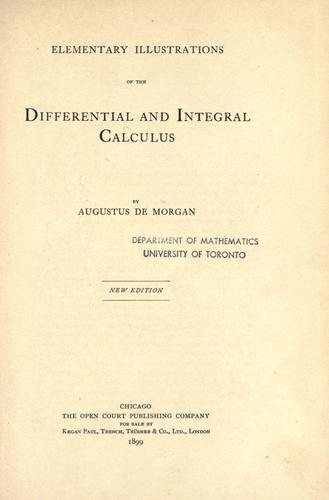 Elementary illustrations of the differential and integral calculus.