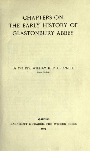 Download Chapters on the early history of Glastonbury Abbey