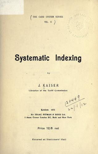 Systematic Indexing.
