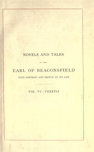 Download Novels and tales by the Earl of Beaconsfield