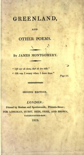 Greenland, and other poems