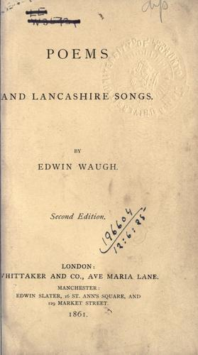 Poems and Lancashire songs.