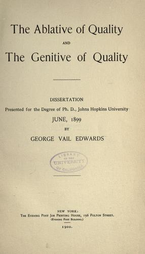 Download The ablative of quality and the genitive of quality