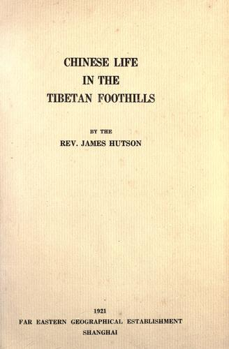Download Chinese life in the Tibetan foothills