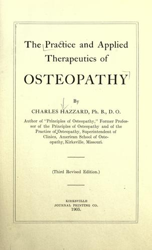 Download Practice and applied therapeutics of osteopathy