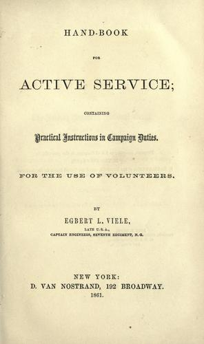 Hand-book for active service