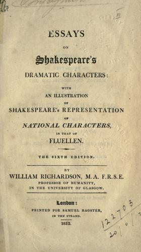 Download Essays on Shakespeare's dramatic characters.