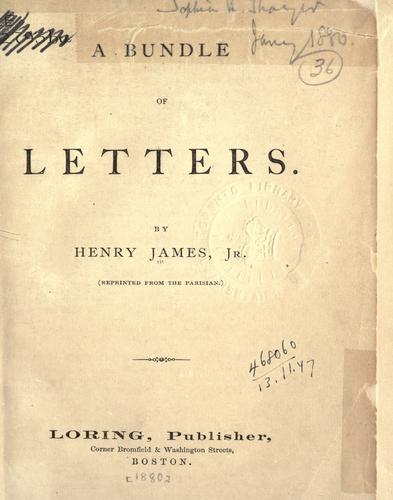 Download A bundle of letters.