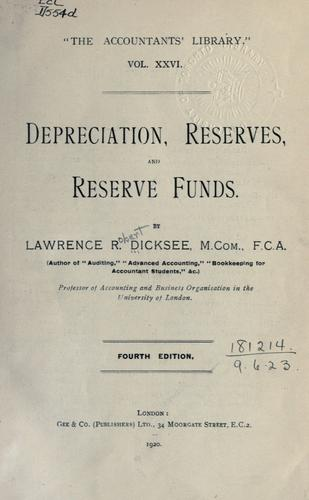 Download Depreciation, reserves, and reserve funds.