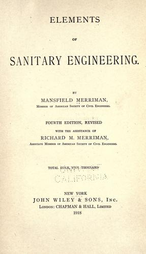 Download Elements of sanitary engineering