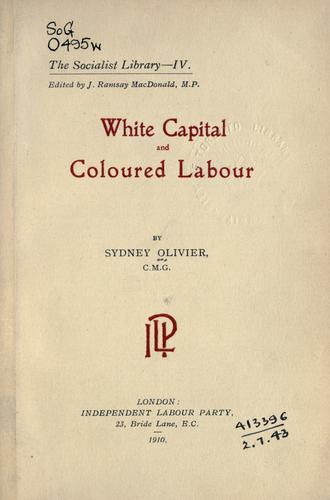 Download White capital and coloured labour.