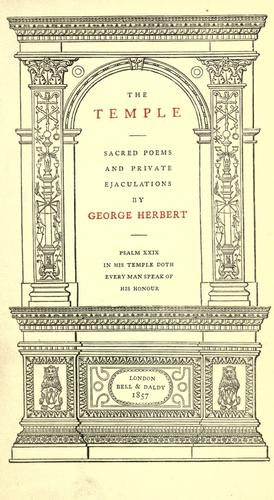The temple by Herbert, George
