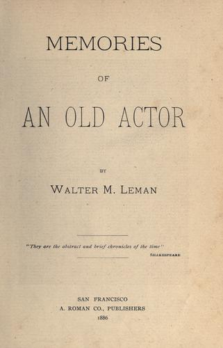 Download Memories of an old actor.