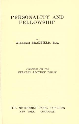 Download Personality and fellowship