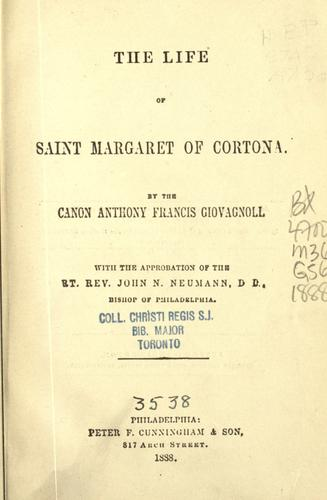 Download The life of Saint Margaret of Cortona.