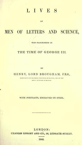 Download Lives of men of letters and science