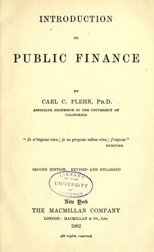 Download Introduction to public finance