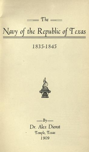 Download The Navy of the Republic of Texas, 1835-1845