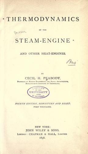 Download Thermodynamics of the steam-engine and other heat-engines