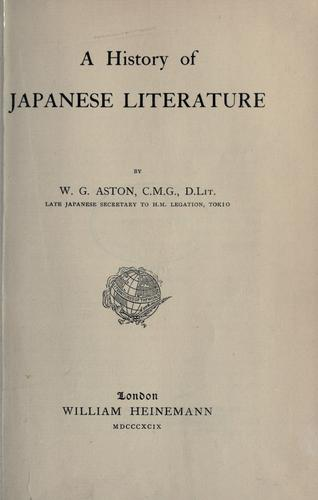 A history of Japanese literature.