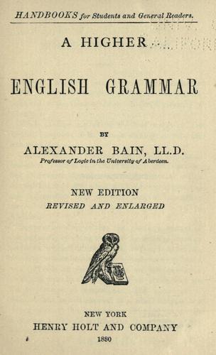 Download A higher English grammar