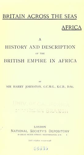 Download Britain across the seas: Africa