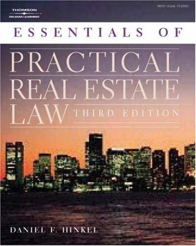 Essentials of practical real estate law