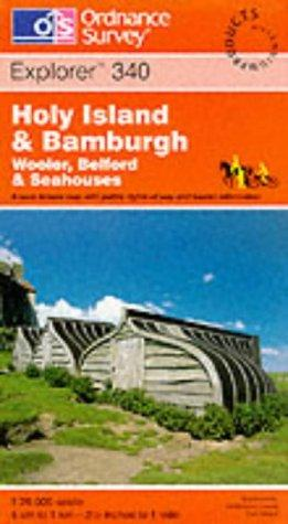Holy Island and Bamburgh (Explorer Maps)