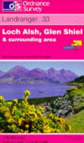 Loch Alsh, Glen Shiel and Loch Hourn (Landranger Maps)