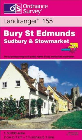 Bury St.Edmunds, Sudbury and Stowmarket (Landranger Maps)