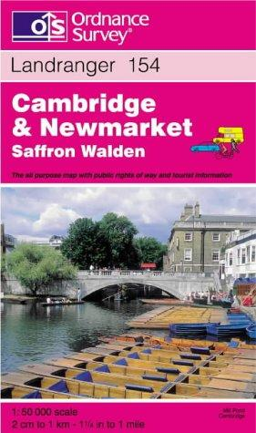 Cambridge and Newmarket, Saffron Walden (Landranger Maps)