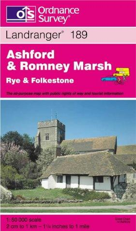 Ashford and Romney Marsh, Rye and Folkestone (Landranger Maps)