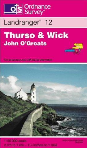 Thurso and Wick, John O'Groats (Landranger Maps)