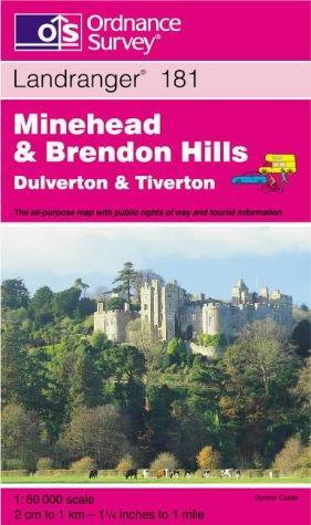 Download Minehead and Brendon Hills, Dulverton and Tiverton (Landranger Maps)