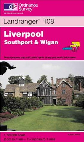Liverpool, Southport and Wigan (Landranger Maps)
