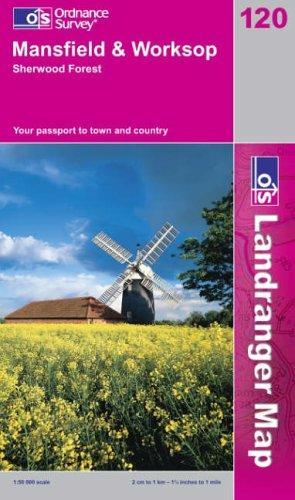 Download Mansfield and Worksop, Sherwood Forest (Landranger Maps)