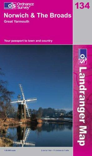 Download Norwich and the Broads, Great Yarmouth (Landranger Maps)