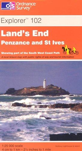 Land's End, Penzance and St Ives (Explorer Maps)