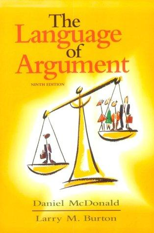Download The language of argument