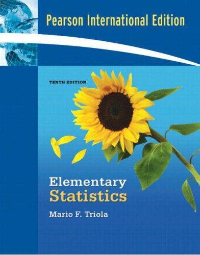 Elementary Statistics (International Edition)