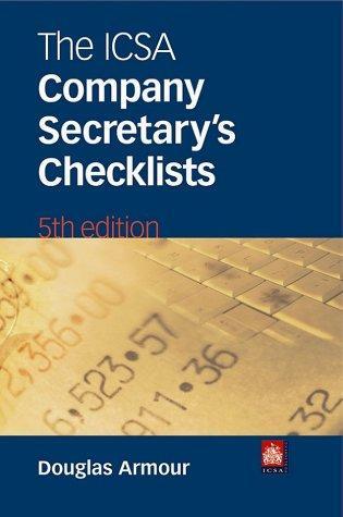ICSA Company Secretary's Checklists