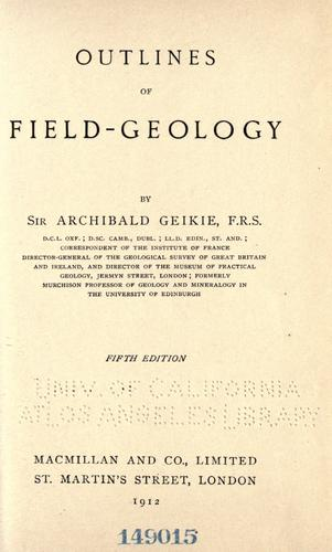 Download Outlines of field-geology