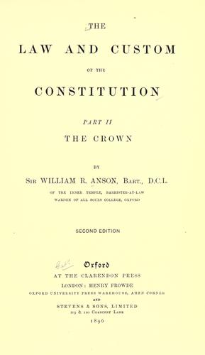 The law and custom of the constitution.