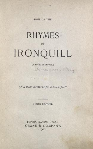 Some of the rhymes of Ironquill
